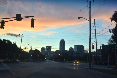 Indianapolis at Sunset. Photo by Erin K. Hylton 2016.