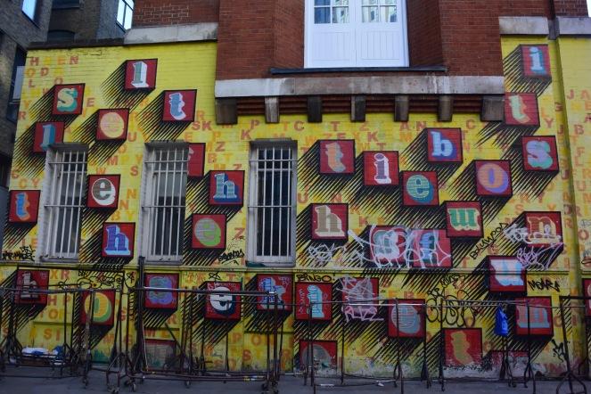 Street art in London. Photo by Erin K. Hylton 2019.
